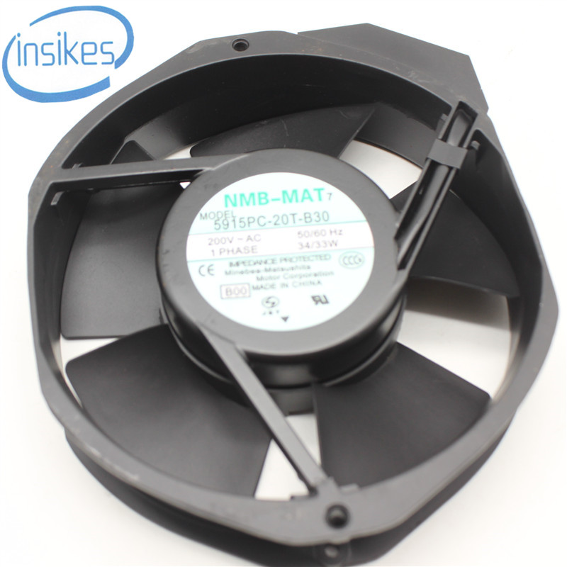 все цены на  5915PC-20T-B30 Aluminum Frame AC Cooling Fan  AC 200V 0.23A 34/33W 50/60Hz 3200RPM 17238 17cm 172*150*38mm  онлайн
