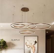 Современный Креативный круглый светодиодный подвесной светильник