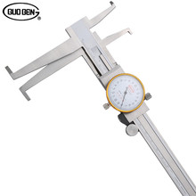 Big discount GUOGEN Inside Groove 9-150mm Dial Caliper Stainless Steel Long Claws Inner Vernier Calipers Measuring Tools