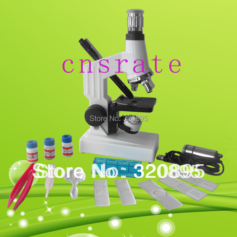 150-1200x Student Monocular Biological Microscope with Top & Bottom Lamp for Kids to Learn Science