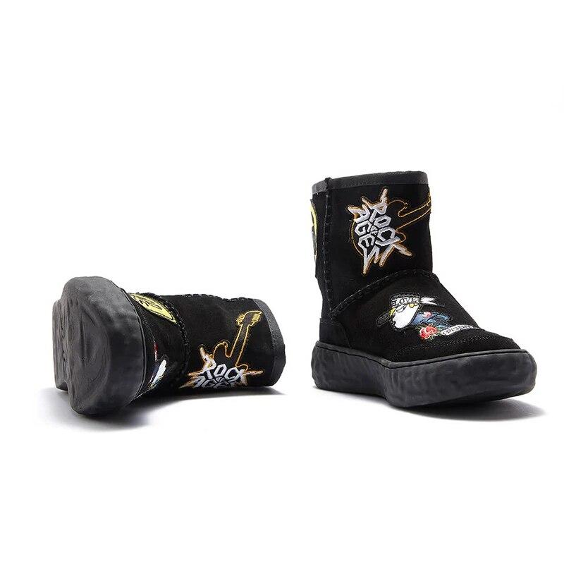 Invierno Zapatos Caliente Botas Lindo Negro Bota Las Nieve Mujeres Nuevos Moda Piel Invierno 2018 Igu Femenina Mujer De Tobillo 7AZqYw7gO