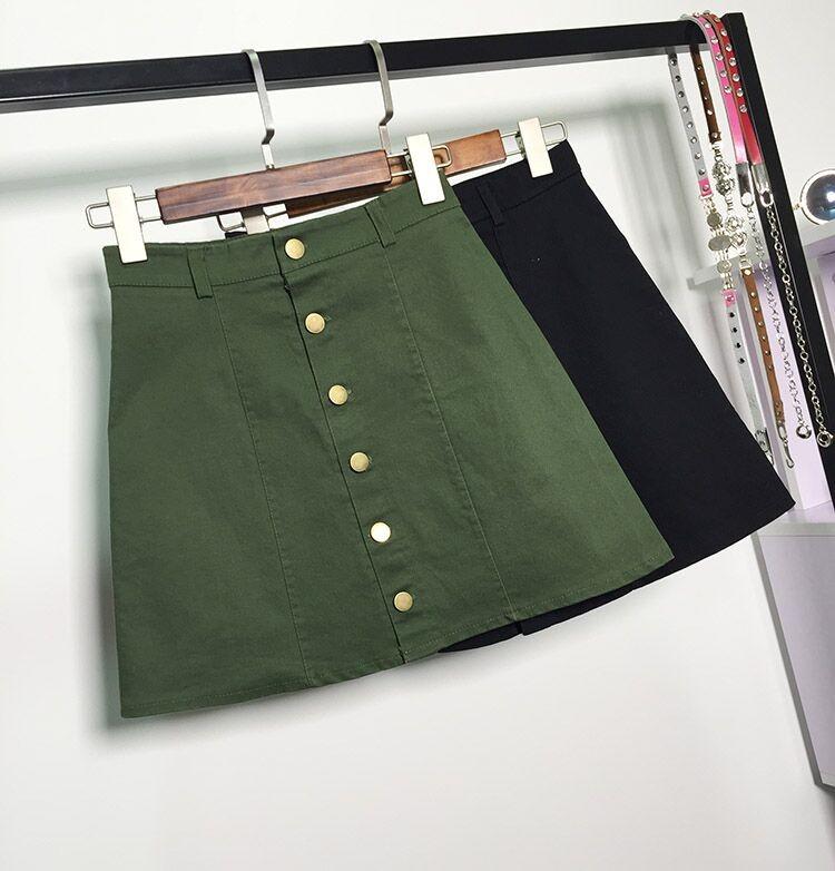 HTB1TCFlMFXXXXXMXXXXq6xXFXXX8 - American Apparel button Denim Skirt JKP265