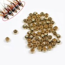 25PCS Fly Tying Brass Beads Head for Nymph Copper John Bugs Pupa Head Tying Materials 2.4mm 2.8mm 3.3mm 3.8mm(China)