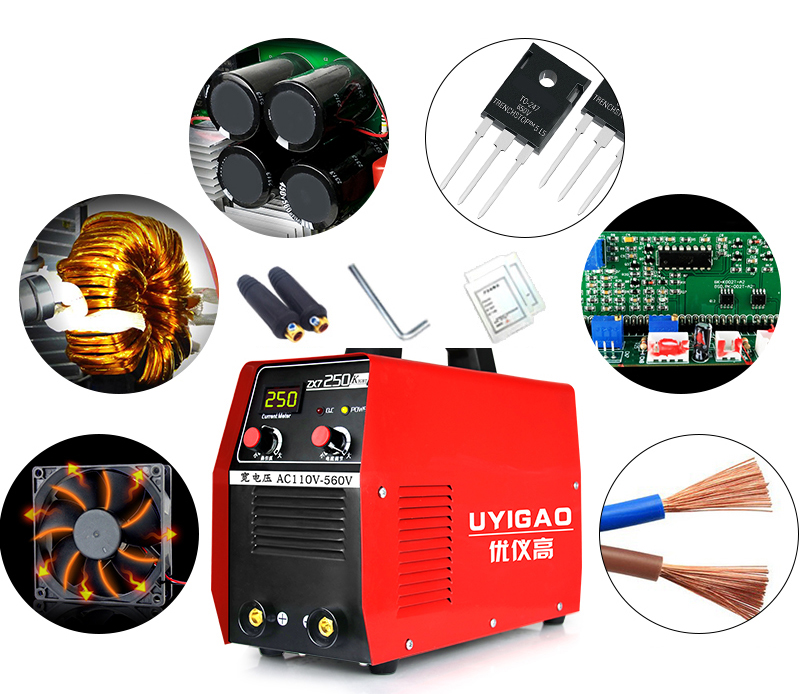 Household electric welding machine LED digital welder 6.5KW 250A 110-560V portable arc welder household inverter high quality mini electric welding machine 200 amp 220v for household