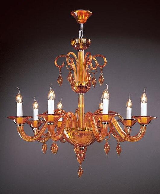 Post modern glass pendant chandelier for Cafe shop indoor amber gold ...