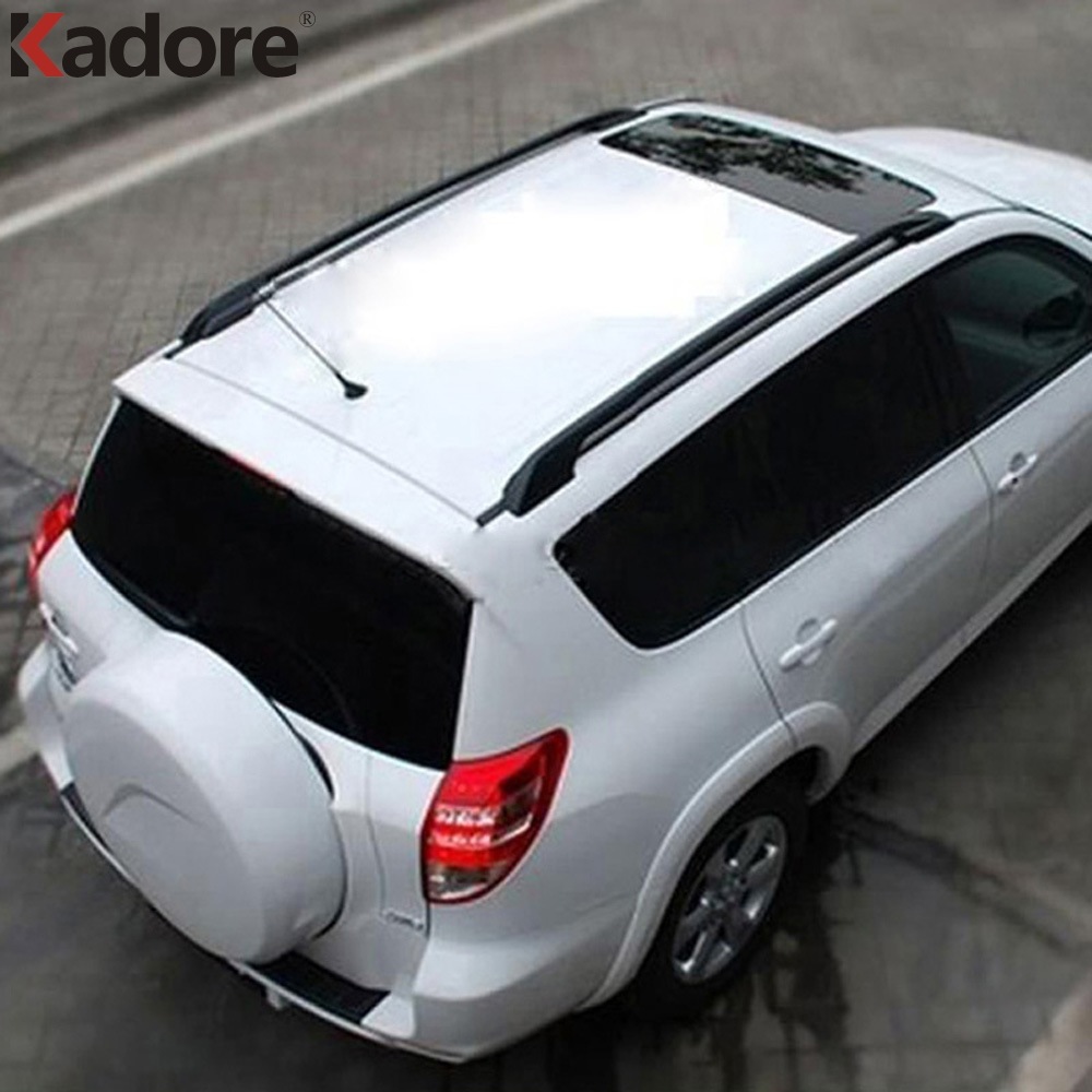 For Toyota RAV4 RAV 4 2006 2007 2008 2009 2010 Aluminium Alloy Black Roof Rack With Screws Roof Luggage Carriers Baggage Holder partol car roof top cross bars roof rack cross bars rail carrier 150lbs aircraft aluminum for mazda cx 7 2007 2008 2009 2010 12
