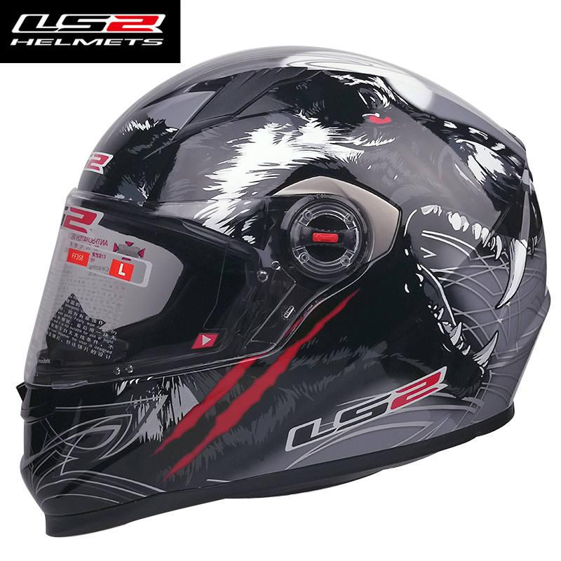 New color LS2 ff358 full face motorcycle helmet motociclista racing moto helmet original capacetes ls2 motorcycle