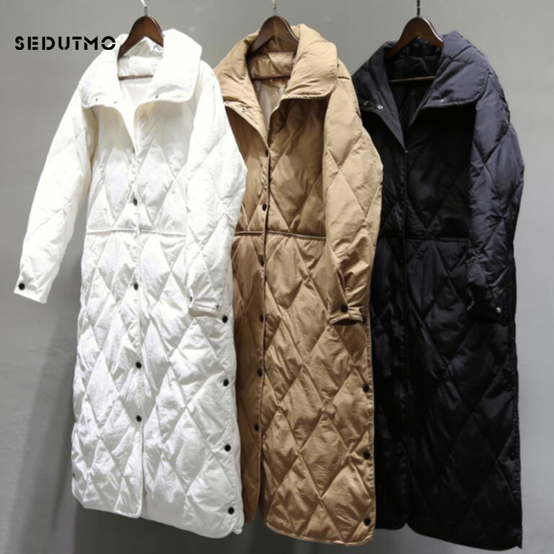 SEDUTMO Winter Long   Down   Jackets Women Ultra Light Duck   Down     Coat   Spring Casual Black Puffer Jacket Autumn Parkas ED747
