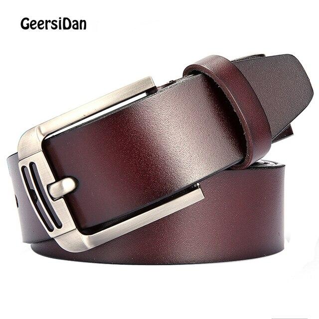 Cinturones de cuero genuino de vaca ancho cinturón de hombre de moda  GEERSIDAN para hombres correa 975e2c6a35b9