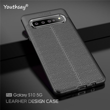 For Samsung Galaxy S10 5G Case 6.7 Luxury Leather Silicone Cover Fundas