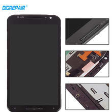 Black For Motorola Moto X2 Xt1092 Xt1095 Xt1097 LCD Display Touch Screen with Digitizer Bezel Frame Assembly Replacement Parts