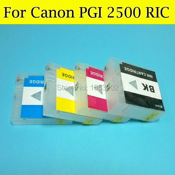 ФОТО Empty Ink Cartridge for Canon PGI-2500 PGI2500XL Ink Catridge for Canon MAXIFY MB5350