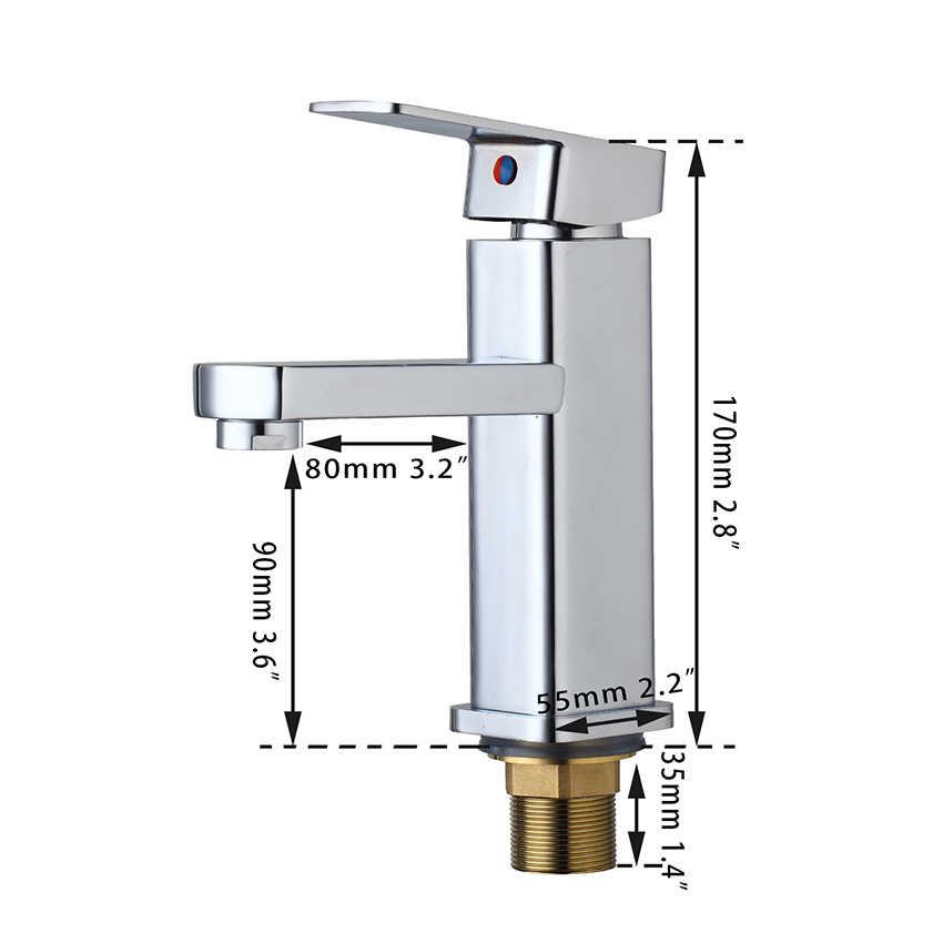 Kemaidi ru nova chegada torneira do banheiro único punho para pia do banheiro toque mixer acabamento cromado torneiras banheiro deck montado
