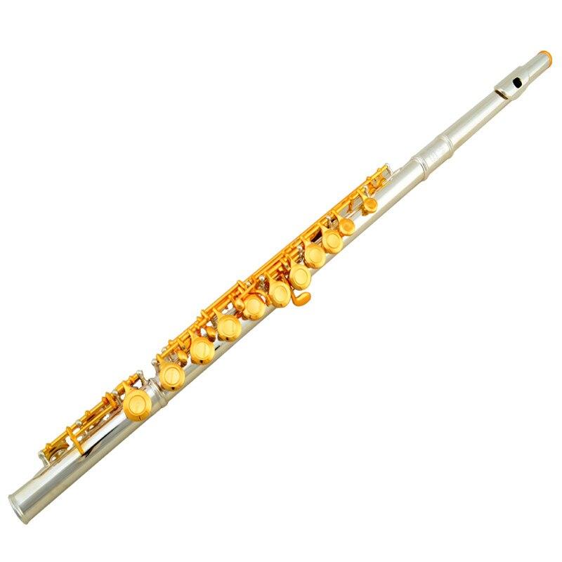 Новинка 2016 jinyin jyfl e2008 Профессиональный Флейта высокое качество с серебряным покрытием Аутентичные flauta музыкальных инструментов с мягкий че