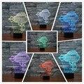 Furadeira elétrica Nova Ilusão 3D 7 cores mudando LED Night luzes Coloridas de Acrílico Candeeiro de Mesa Para A Festa de Presente de Aniversário para Crianças brinquedos
