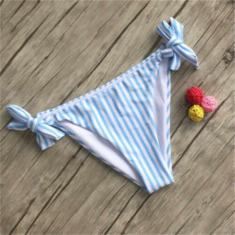 Сексуальный бикини 2019, женский купальник на одно плечо, женский купальник со шнуровкой, синий, красный, полосатый купальный костюм, пляжная одежда, бразильский комплект бикини
