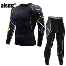 Aismz Men Thermal Underwear Set Winter Warm Fast-Dry Technology Surface Elastic Force