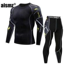 Aismz Men Thermal Underwear Set Winter Warm Fast-Dry Technology Surface Elastic Force Long