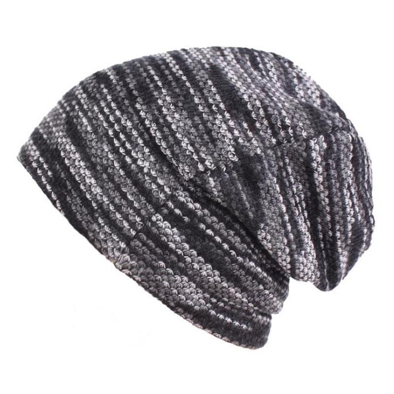 Winter Beanies Collar Scarf Women or Men's Hip Hop Hats Warm with Velvet Inside Knit hat men's wool hat Hip-hop cap