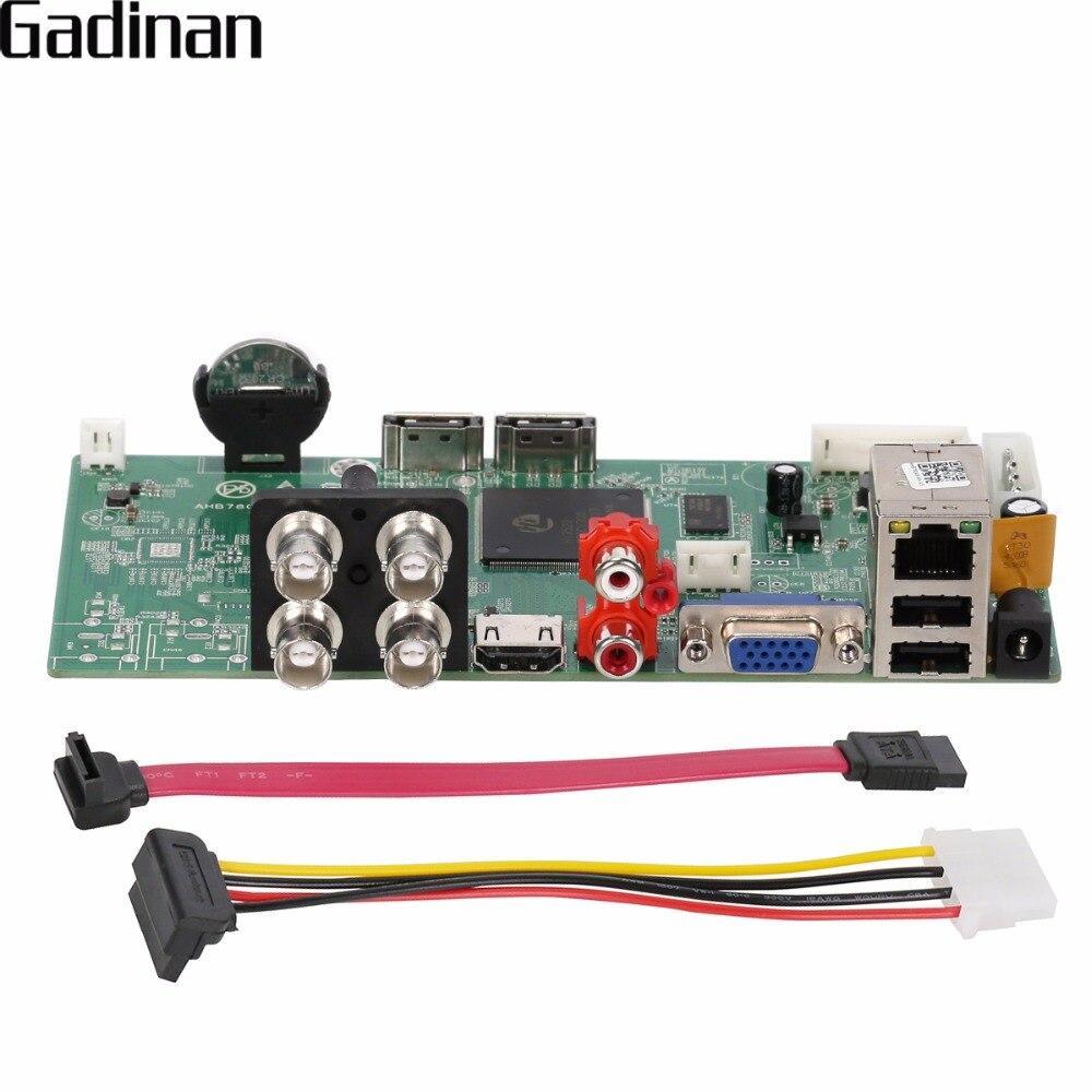 GADINAN AHD DVR 4CH Board 1080P AHDH TVI CVI XVI 5 in 1 ONVIF HDMI Output Email Alert Motion Detection XMeye P2P AHB7804R-MH-V3