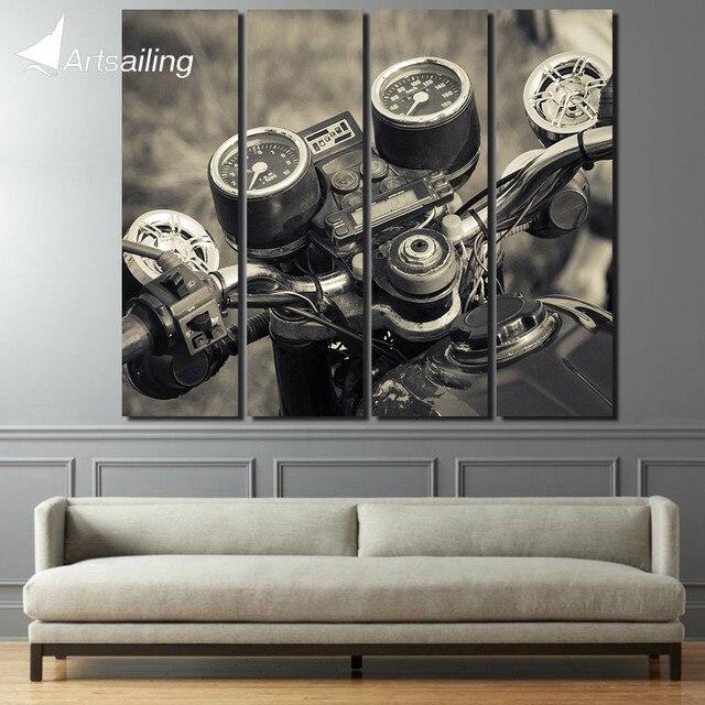 4 stuk grote schilderen Motorfiets Snelheid tafel wanddecoraties ...