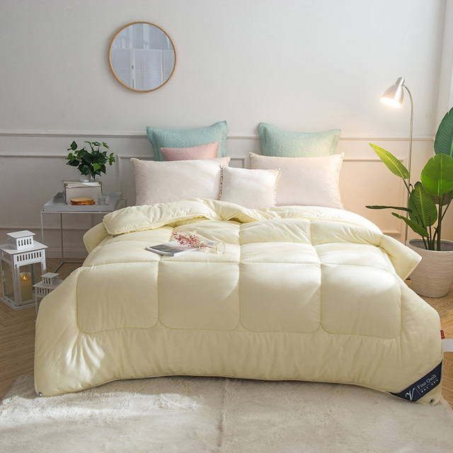100 Cotton Cover Feather Velvet Filling Warm Soft Comforter Twin Full Queen King Bedding Quilt