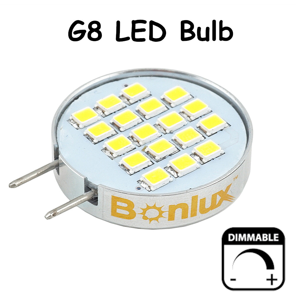 Dimmable LED G8 Bulb Light 3.5 Watts 180 Degree Beam Angle G8 Cabinet Light with 30 Watts Halogen Replacement 15w br40 led light bulb not dimmable e27 e26 screw base wide beam angle 120 degrees 100w halogen bulb equivalent