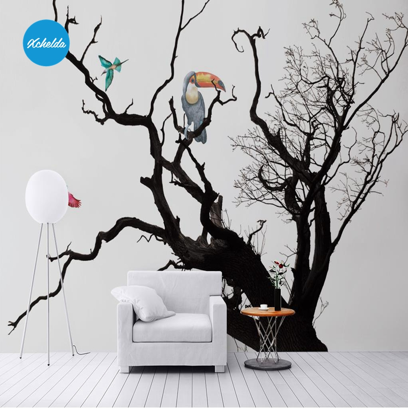 XCHELDA Custom 3D Wallpaper Design Cartoon Dead Tree Photo Kitchen Bedroom Living Room Wall Murals Papel De Parede Para Quarto kalameng custom 3d wallpaper design street flower photo kitchen bedroom living room wall murals papel de parede para quarto