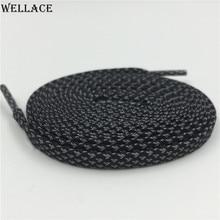 Wellace 3 М Плоские Отражающие Шнурки Высокая Видимость Shoestrings для Туристические Ботинки шнурки Замена для Мужчины Женщины Дети