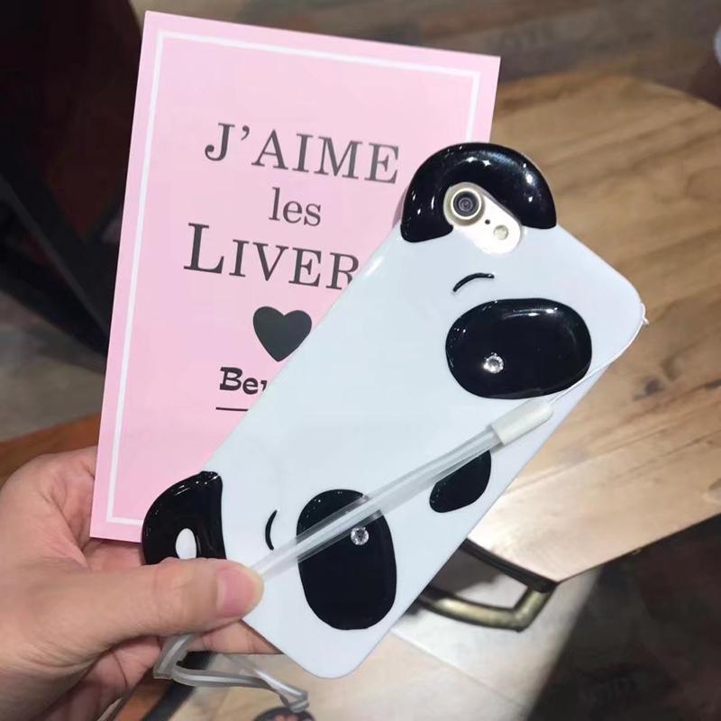 HTB1TCIdRpXXXXXraFXXq6xXFXXXz - Cute Cartoon 3D Chinese Panda Ears & Eyes Transparent Coque TPU Silicone Soft Clear Panda Phone Case For iPhone 6 6S 7 7 Plus PTC 286