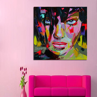 Francoise Nielly Stree Pop Art olieverfschilderij hoge Kwaliteit handgeschilderde Schilderij Meisje Stareing