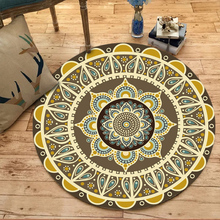 Morocco Round Carpets Living Room Area Rugs Geometric Turkey Anti-Skid Carpet Kids Home Bedroom Baby Crawling Blanket D30