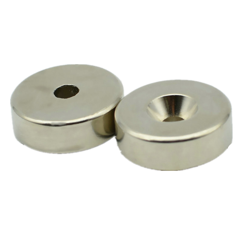 8-200pcs NdFeB Countersunk Magnet about Dia. 30x10 mm thick M5 Screw Countersunk Hole N35 Neodymium Rare Earth Permanent Magnet 10x5 4mm cylindrical ndfeb n35 magnet w hole silver 10pcs