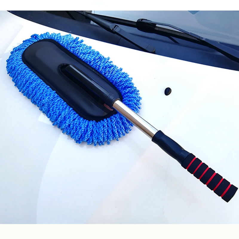Image 5 - Microfiber Car Cleaning Brush Auto Window Duster Retractable Stainless Steel Long Handle Car Wash Drag Wax Shan Washer-in Sponges, Cloths & Brushes from Automobiles & Motorcycles