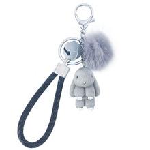 Кролик брелок Покемон пушистый меховой шар брелки для женщин сумки подвеска Украшение помпоны брелок Мода Дети Пасхальные подарки