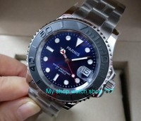 41mm parnis blue dial Sapphire crystal 5Bar waterproof Japanese automatic mechanical movement men's watch Mechanical watches 9