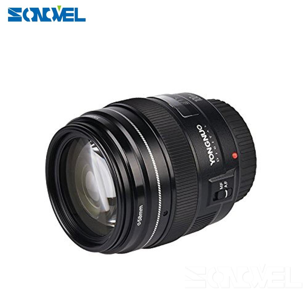 2016 NOUVEAU Yongnuo YN100mm F2 Moyen Téléobjectif Premier Objectif pour Canon EOS Rebel Caméra AF MF 5D4 1300D 800D 760D 750D 77D 60Da 5Ds R - 3