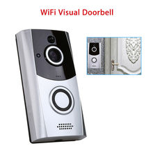 купить WiFi Peephole Doorbell Video Visual Intercom Smart Wireless Security DoorBell 720P Camera Night Vision PIR Security Cam дешево