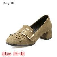 High Heels Pumps Women Oxfords Career Campus Shoes Woman High Heel Shoes Kitten Heels Size 34 - 40 41 42 43 44 45 46 47 48