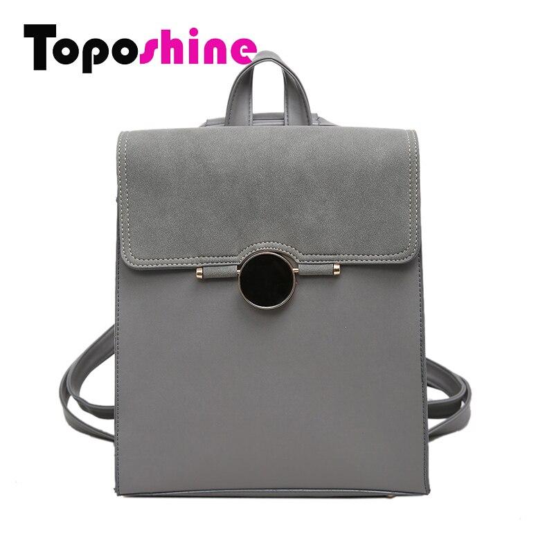 Toposhine 2017 Spring font b Women b font font b Backpack b font Quality PU Leather