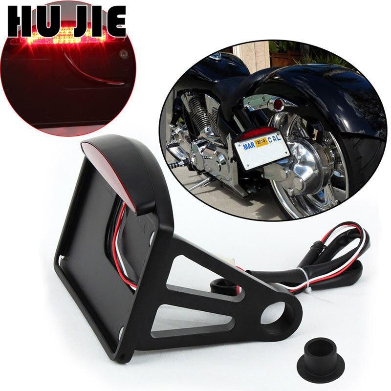 Feu arrière de support de plaque d'immatriculation à montage latéral led rouge moto pour Harley la plupart des modèles