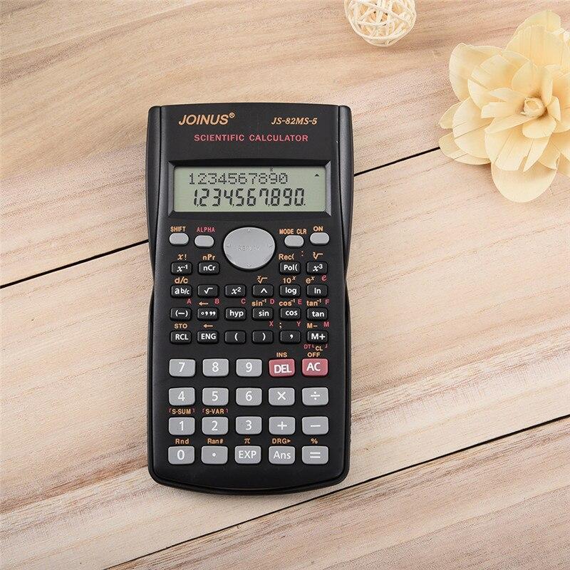 Lo nuevo Multi-función de contador de estadística Estudiante trigonométrica Uso Portátil Pantalla de 2 Líneas Calculadora Científica De Mano negro