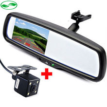 "four.three"" TFT LCD Automotive Parking Rearview Mirror Monitor With CCD Rear View Digicam. Inside Mirrors With Bracket For Toyota VW Audi"