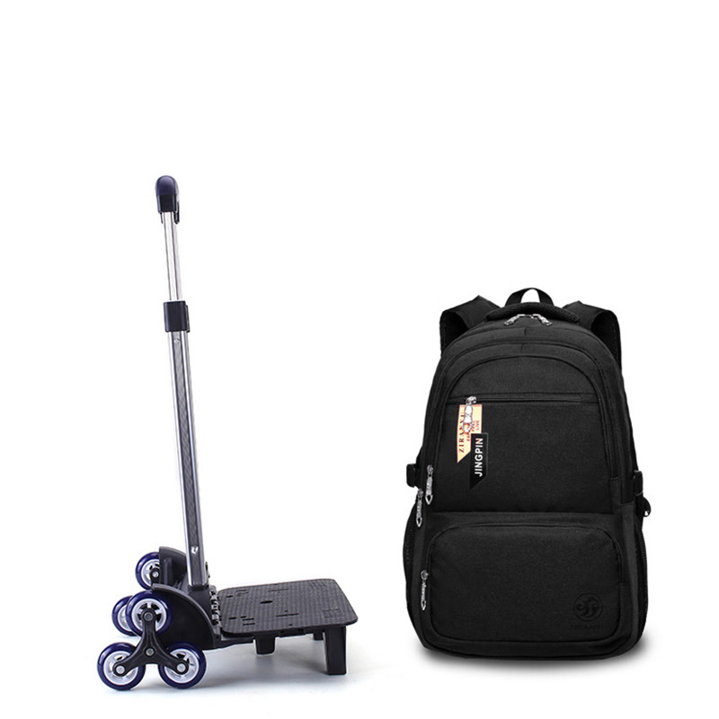 Children Detachable Trolley Backpack Boys Wheeled School Bag Casual Travel luggage Waterproof Climb the stairs trolley backpack