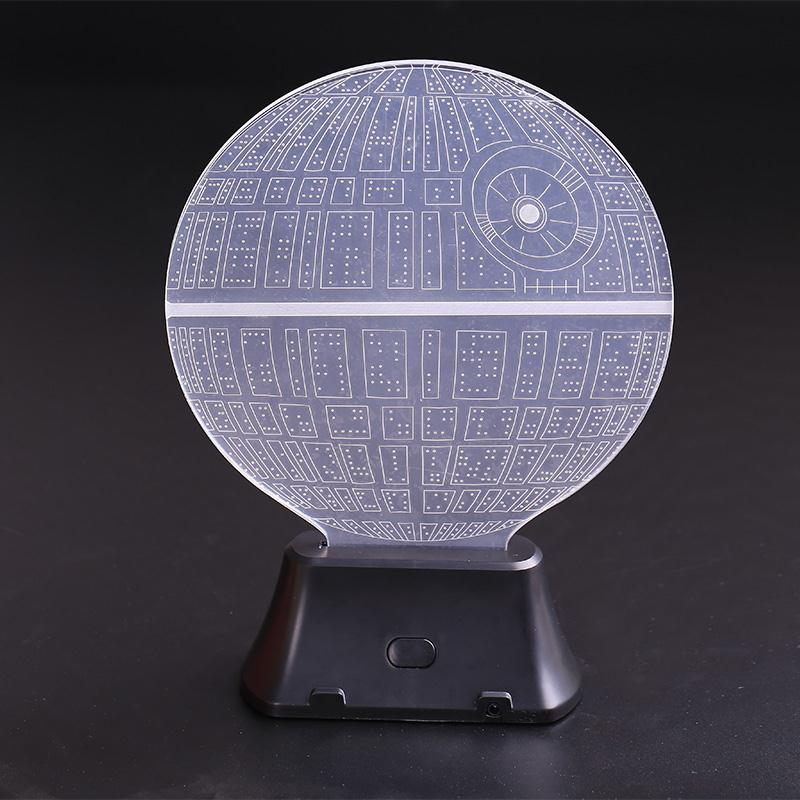 For Star Wars Death Star 3D LED Night Light Touch Switch Table Desk Lamp Room Decor Colorful Kids Baby Gift 3d led night light indoor wall lamp for children baby room cute cloud star moon rc remote controller desk table lampara
