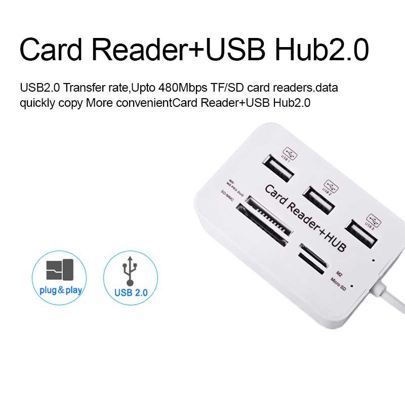 iMice USB HUB 3.0 Multi USB 3.0 HUB Splitter 3 Porte Kortleser Multi - Datamaskinutstyr - Bilde 3