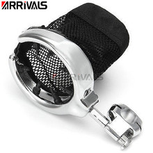 Motorcycle Handlebar Cup Holder Balck Chrome Metal Drink Basket Fits For Honda For Kawasak For Harley
