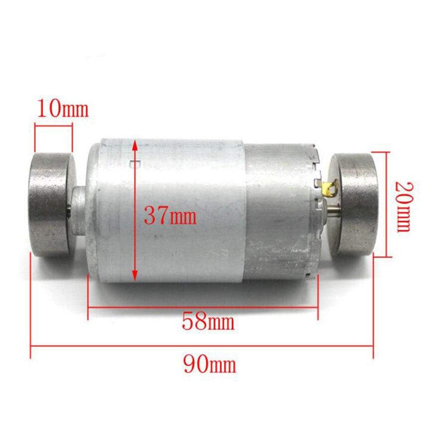 DC 6-12V 1000-1600RPM 550 Vibrating Motor Dual Vibrator Strong Vibration DIY Massager 37*58mm