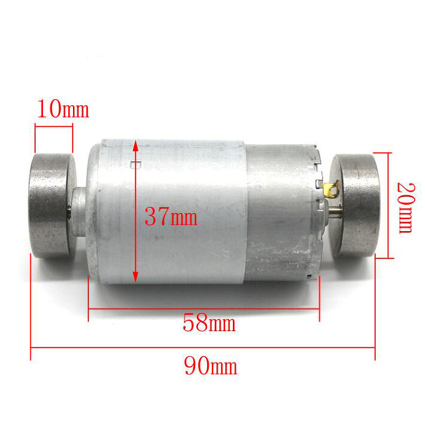 DC 6-<font><b>12V</b></font> 1000-1600RPM <font><b>550</b></font> Vibrating <font><b>Motor</b></font> Dual Vibrator Strong Vibration DIY Massager 37*58mm image