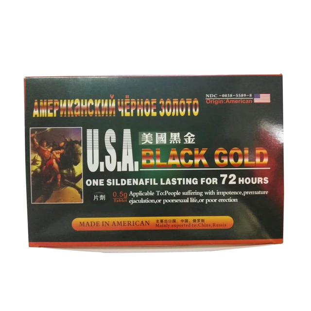 American Black Gold Pills for Penis Erection and Enlargement